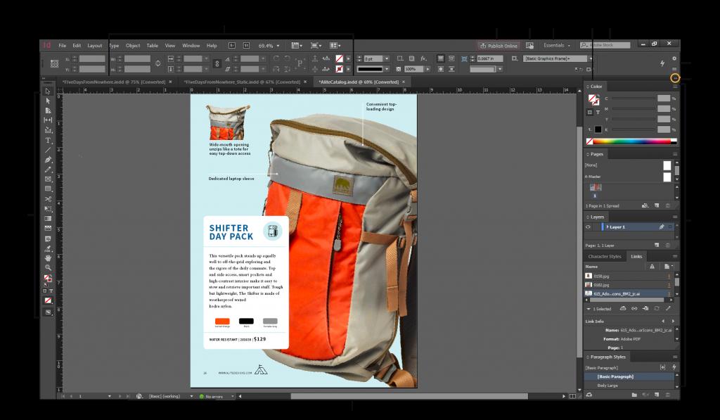 inesign workspace 1024x597 - آشنایی با نرم افزار ایندیزاین