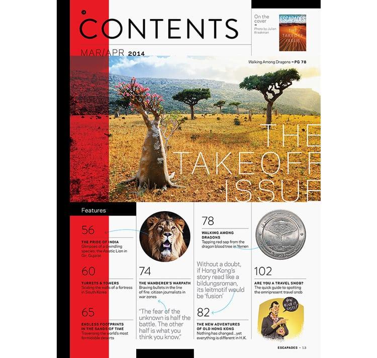 Escapades1 - 5 روش طراحی و صفحهآرایی مجله