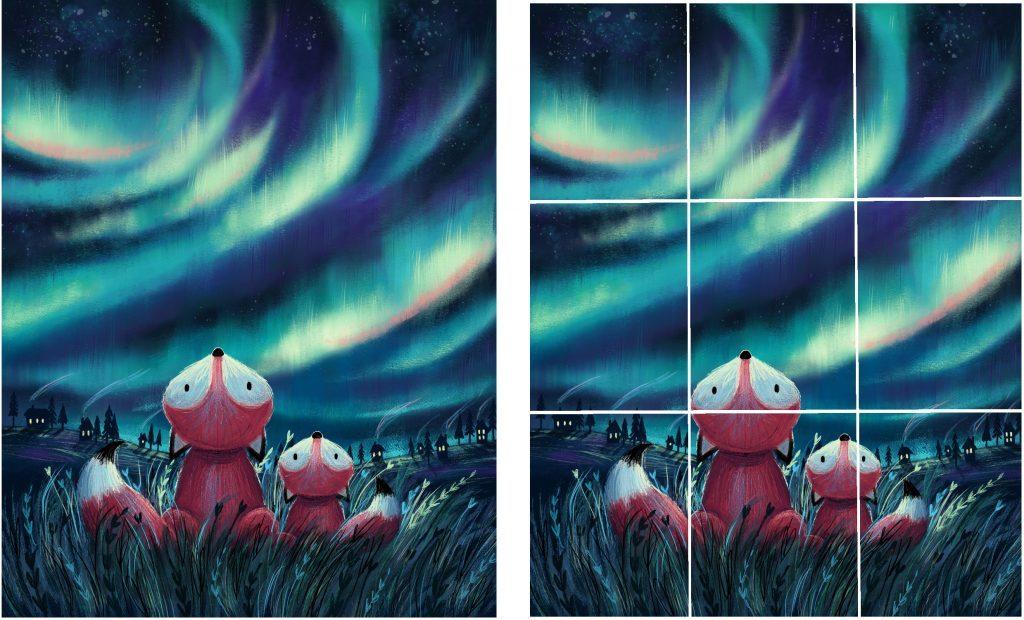 Rule of Thirds 1 02 1024x620 1024x620 - 5 نکته در طراحی جلد کتاب کودکان