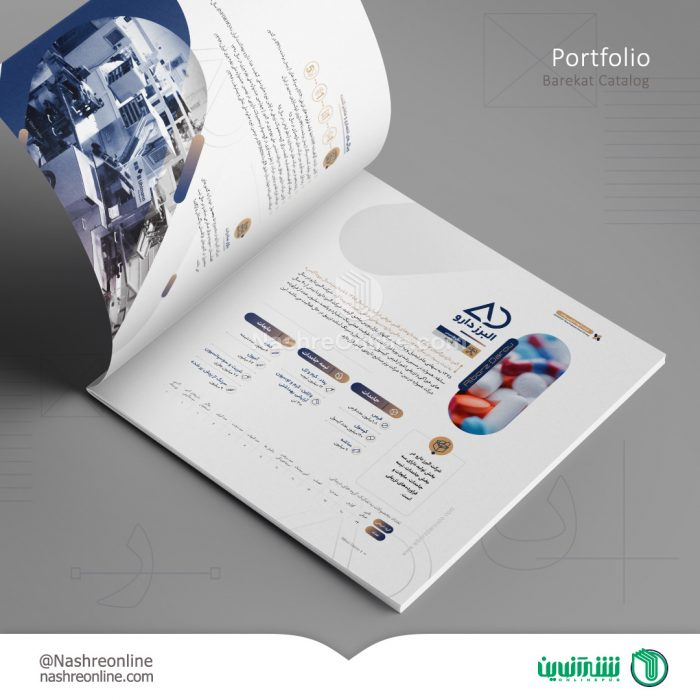 نمونه طراحی کاتالوگ شرکت سرمایه گذاری