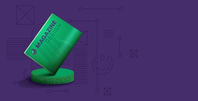 نمونه کارهای طراحی مجله نشریه
